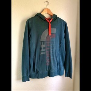 The North Face Half Dome Hoodie in Dark Teal- Lg